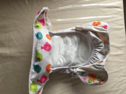 Capa plástica montada com capa anti-vazamento, absorvente e BioLiner